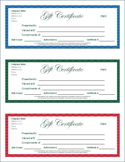 Gift Certificate Template Google Docs - planner template free
