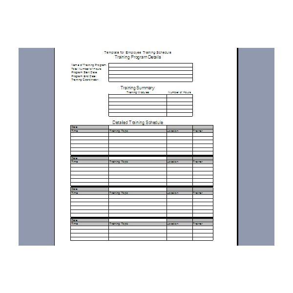 Individual Employee Training Plan Template - planner ...