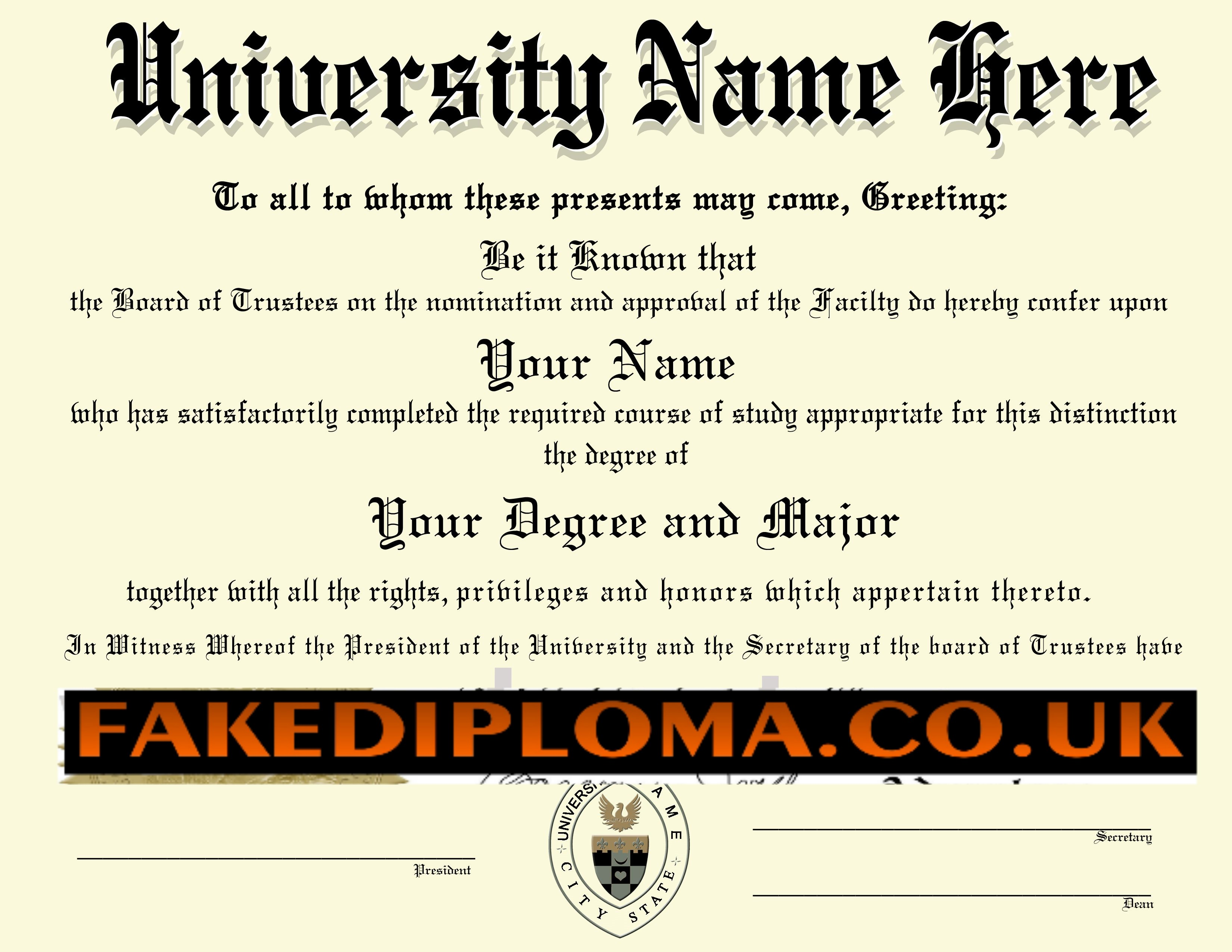 make a fake degree certificate for free planner template free. Black Bedroom Furniture Sets. Home Design Ideas