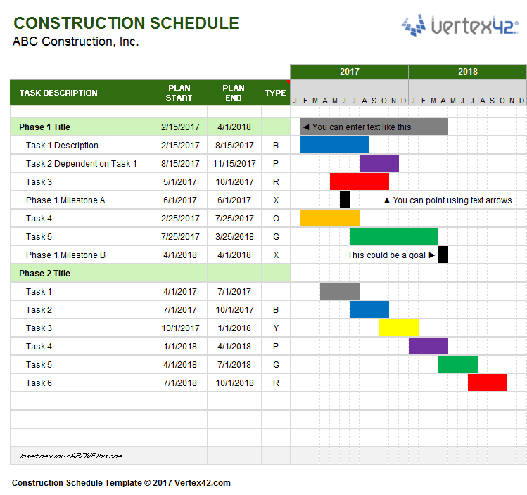 Planner Schedule Template
