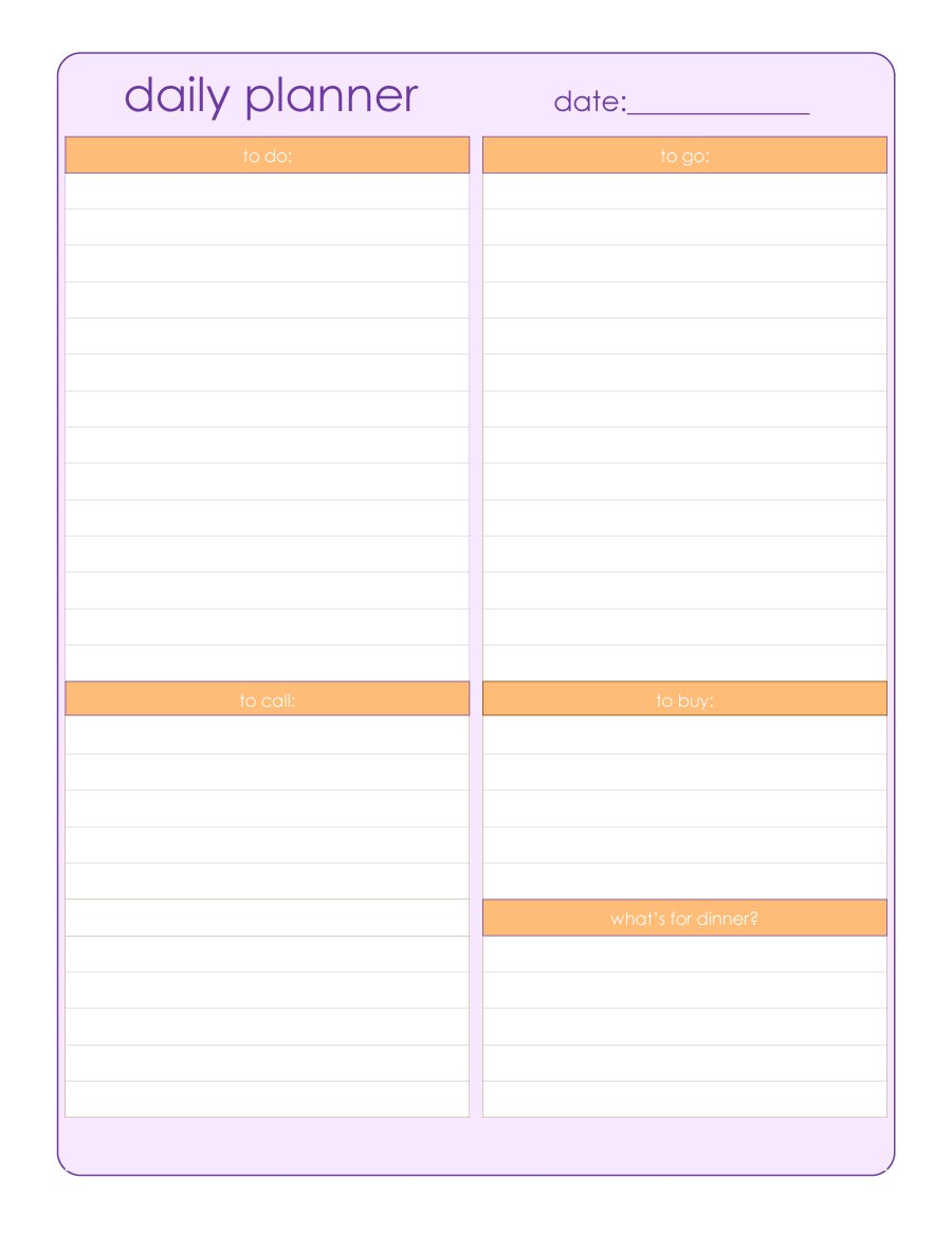 Planner Template Planner Template Free