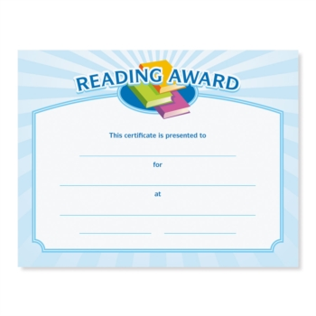 reading certificate template planner template free