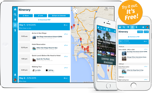 Travel Itinerary Maker - planner template free
