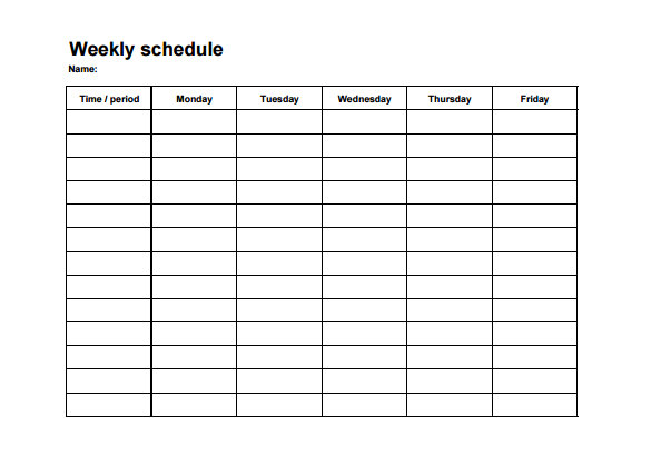 weekly employee shift schedule template excel planner. Black Bedroom Furniture Sets. Home Design Ideas