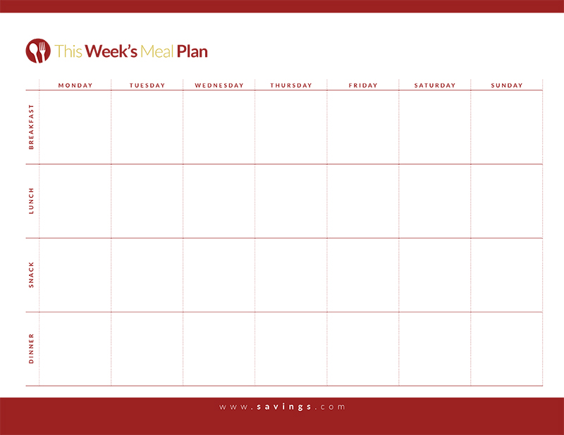 weekly meal planner template weekly meal planner template with snacks planner 30696